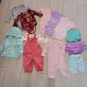 Bundle of size 6 Month Baby onesies, bottoms, etc.